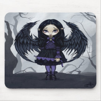 """Purple Paper Hearts"" Mousepad"