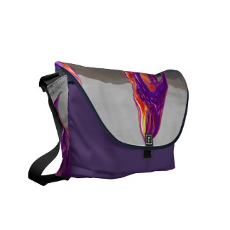 Purple Paradise dragon baggie Courier Bags
