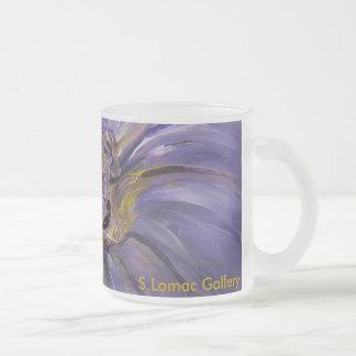 Purple Paradise Frosted Glass Coffee Mug