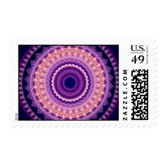 Purple Paradise Kaleidoscope Mandala postage stamp