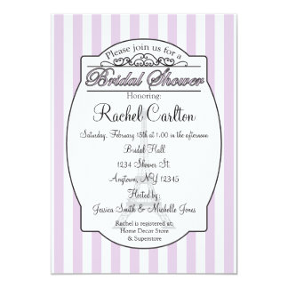 Purple Paris Bridal Shower Invitation