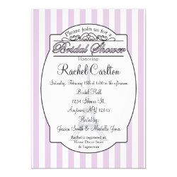 Purple Paris Bridal Shower Invitation