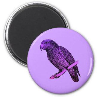 Purple Parrot Magnet
