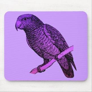 Purple Parrot mousepad