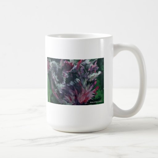 purple parrot tulip coffee mug