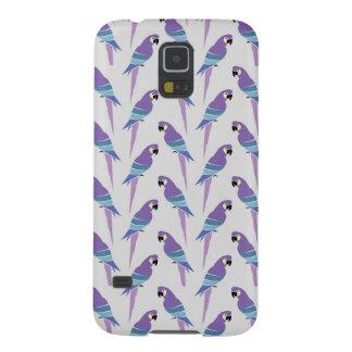 Purple Parrots Case For Galaxy S5