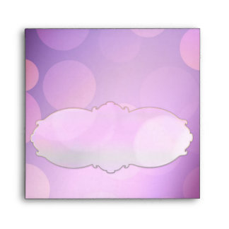 Purple party light spots invitation envelopes
