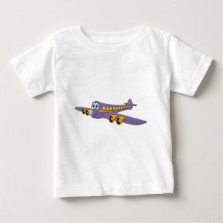 Purple Passenger Jet Cartoon Baby T-Shirt