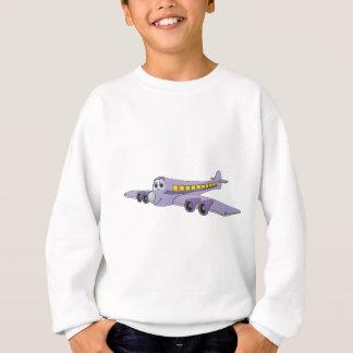 Purple Passenger Jet Cartoon Sweatshirt