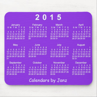 Purple Passion 2015 Calendar by Janz Mousepad Mousepad