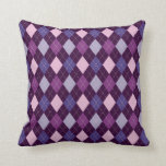 Purple Passion Argyle Two Pattern Reversible Throw Pillows