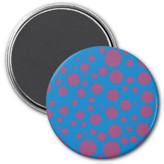 purple passion feeling blue moon art dizzy dots fridge magnets