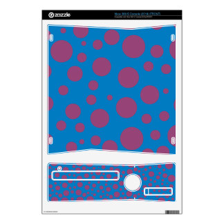 purple passion feeling blue moon art dizzy dots skin for xbox 360 s