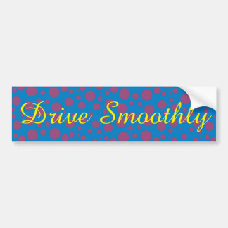 purple passion feeling blue moon circle pattern bumper sticker