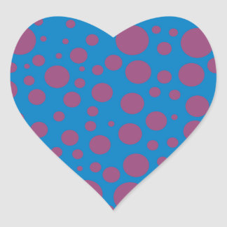 purple passion feeling blue moon circle pattern heart sticker