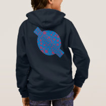 purple passion feeling blue moon circle pattern hoodie