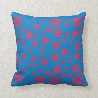 purple passion feeling blue moon circle pattern throw pillow