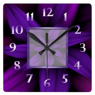 Purple Passion Floral Geometric