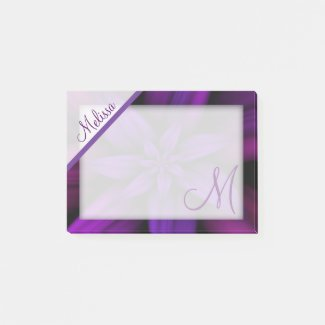 Purple Passion Floral Monogram