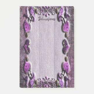 Purple Passion Floral Post-it Notes