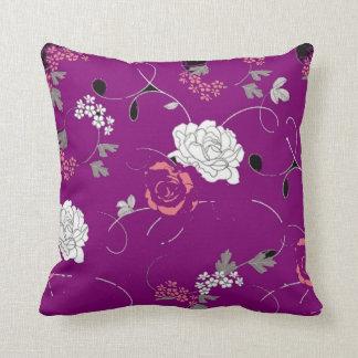 Purple Passion Flower Decorative Pillow