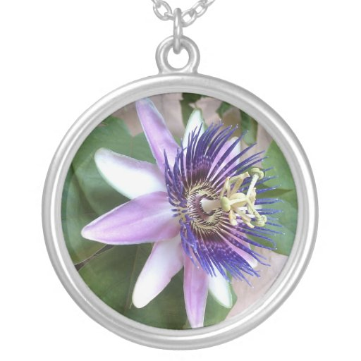 Purple Passion Flower Pendants