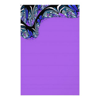 Purple Passion Fractal Art Stationery