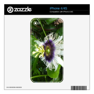 PURPLE PASSION FRUIT FLOWER iPhone 4 SKIN