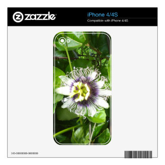 PURPLE PASSION FRUIT FLOWER SKIN FOR THE iPhone 4S