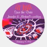 Purple Passion Las Vegas Wedding Sticker