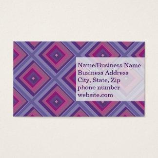 purple passion lavender fields diamond pattern art business card