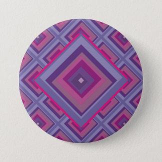 purple passion lavender fields diamond pattern art button