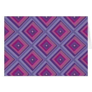 purple passion lavender fields diamond pattern art card