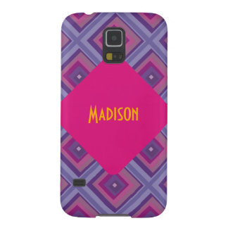 purple passion lavender fields diamond pattern art case for galaxy s5