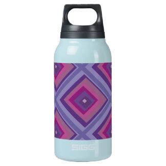 purple passion lavender fields diamond pattern art insulated water bottle