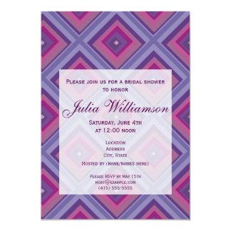 "purple passion lavender fields diamond pattern art 5"" x 7"" invitation card"