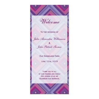 "purple passion lavender fields diamond pattern art 4"" x 9.25"" invitation card"