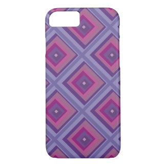 purple passion lavender fields diamond pattern art iPhone 7 case