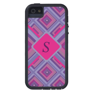 purple passion lavender fields diamond pattern art iPhone SE/5/5s case