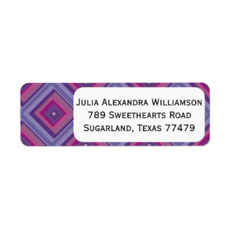 purple passion lavender fields diamond pattern art return address labels