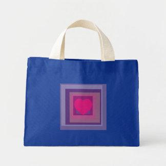 purple passion lavender fields diamond pattern art mini tote bag