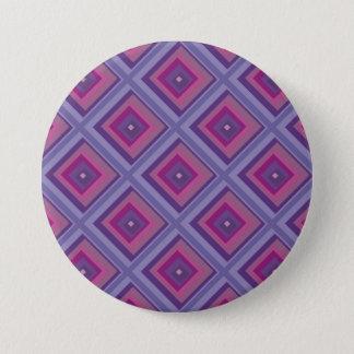 purple passion lavender fields diamond pattern art pinback button