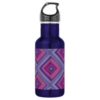 purple passion lavender fields diamond pattern art water bottle