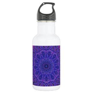 Purple Passion Mandala Stainless Steel Water Bottle