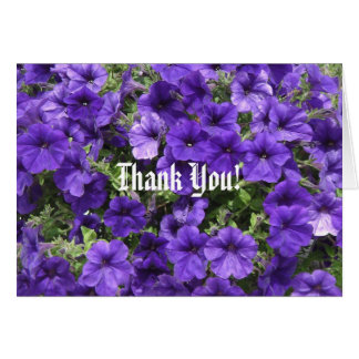 Purple Passion Petunias Thank You Card