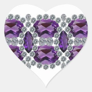Purple Passion Pin Heart Sticker