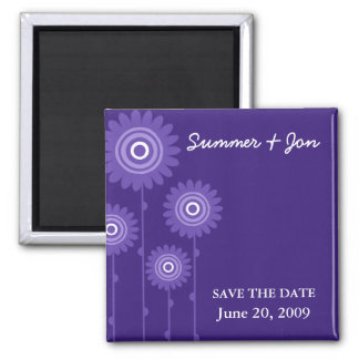 PURPLE PASSION SAVE THE DATE 2 INCH SQUARE MAGNET