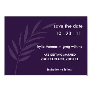 Purple Passion Save the Date Card