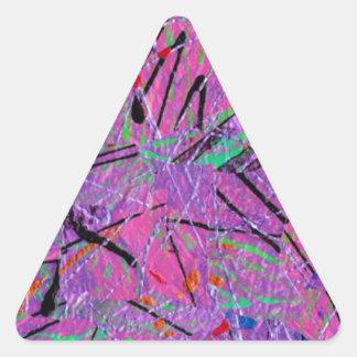 Purple Passion Triangle Sticker