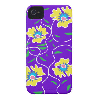 Purple Passion Vine Flower iPhone 4 Case-Mate Case